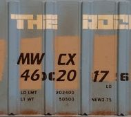 "Custom MWCX 8"" italic HO scale decals (Black)"