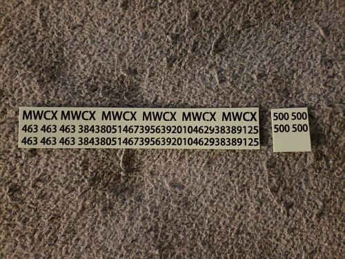 "Custom MWCX 7"" HO Scale Decal (Black)"